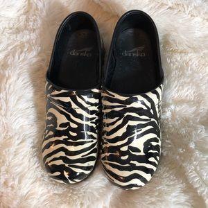Dansko Zebra Clogs Size 36